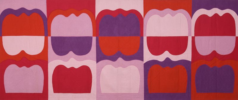 1969_IKI_Wall-Hanging_with_tombstone_Forms_stitching_chemicallay_dyed_linen_156x370_small